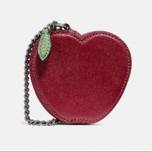 COACH Red Apple Leather Coin Case